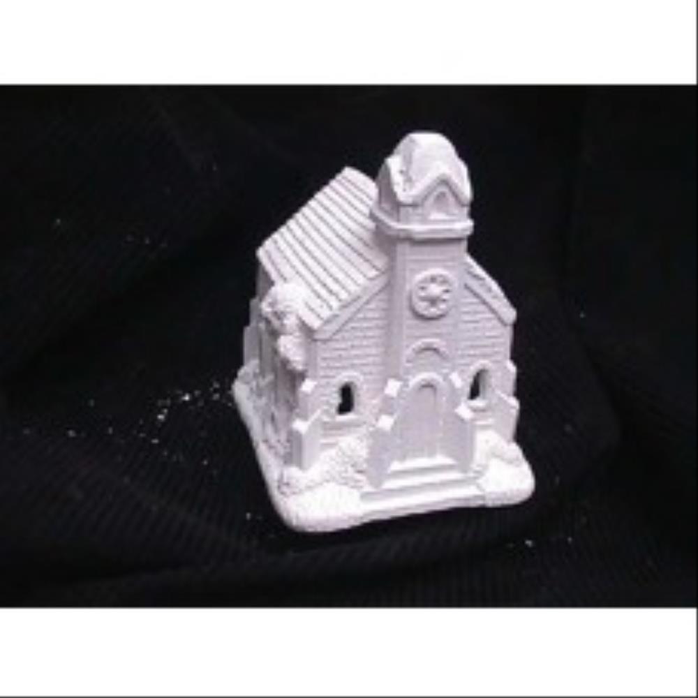 unpainted plaster craft christmas houses